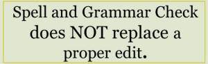 Spell and Grammar check does NOT replace