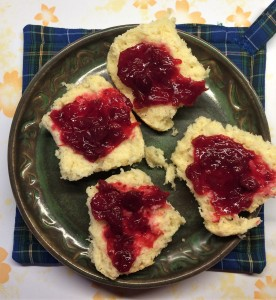 Biscuits and Cranberry Jam